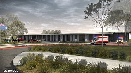 NSW ambulance supercentres western Sydney architectural drawing