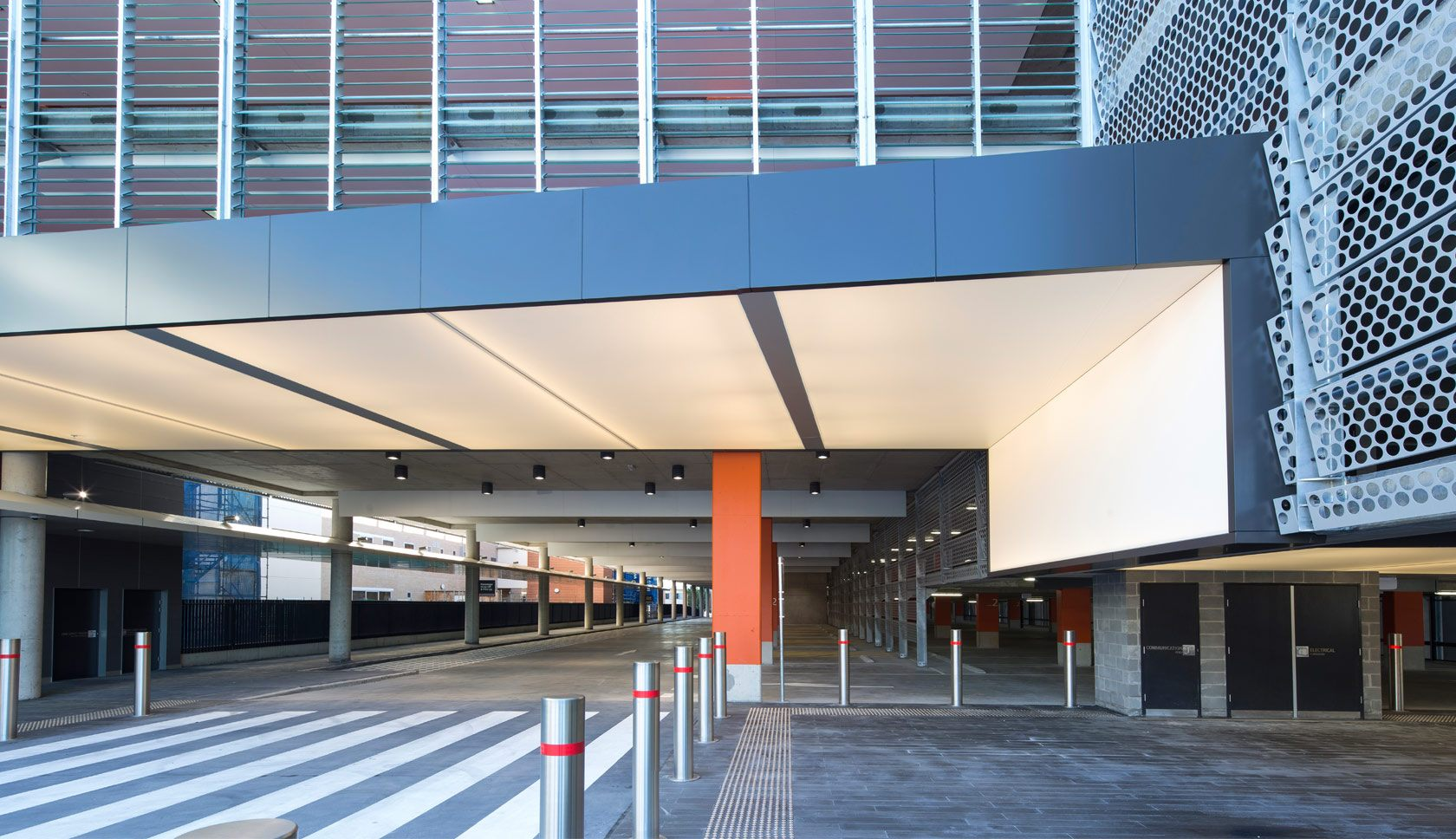 Sydney Adventist hospital multi-deck car park under cover view