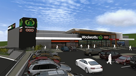 Woolworths Lisarow drawing of the retail outlet from the car park