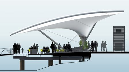 Sydney Fish markets design drawing of the undercover outdoor seating