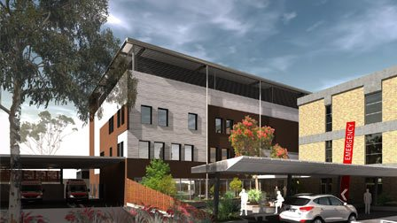 Armidale hospital drawing of the building redevelopment