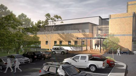 Muswellbrook hospital building and car park drawing