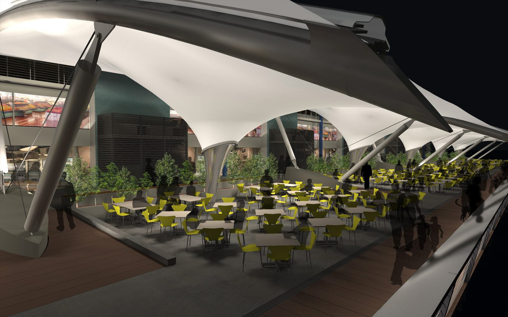 Sydney Fish markets design drawing of the outdoor seating
