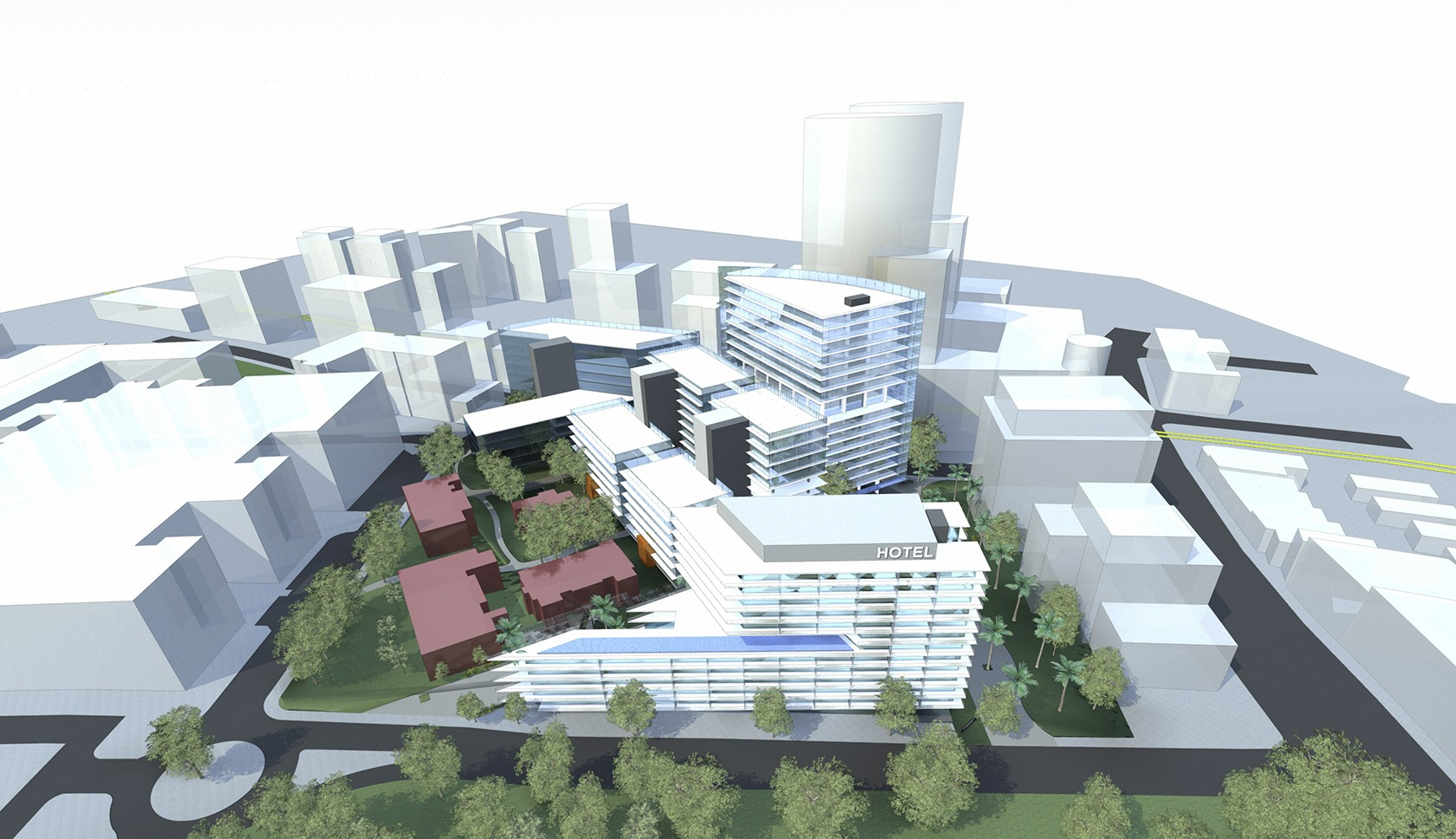 Royal North Shore Hospital masterplan panoramic drawing