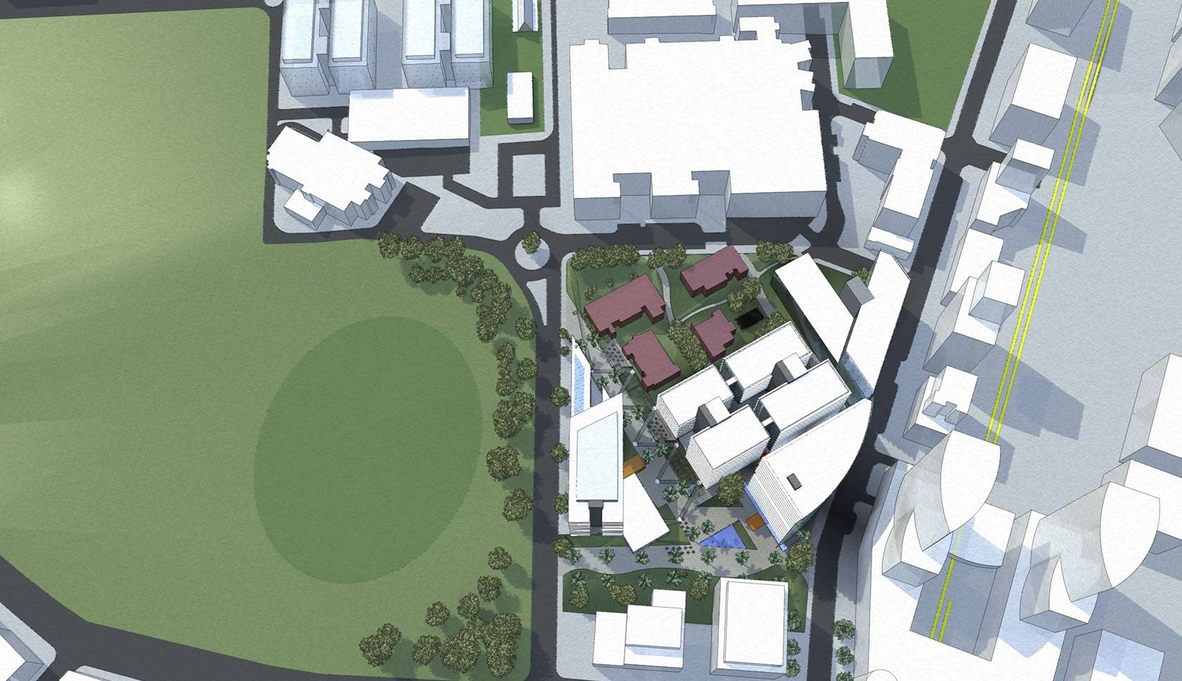 Royal North Shore Hospital masterplan aerial drawing
