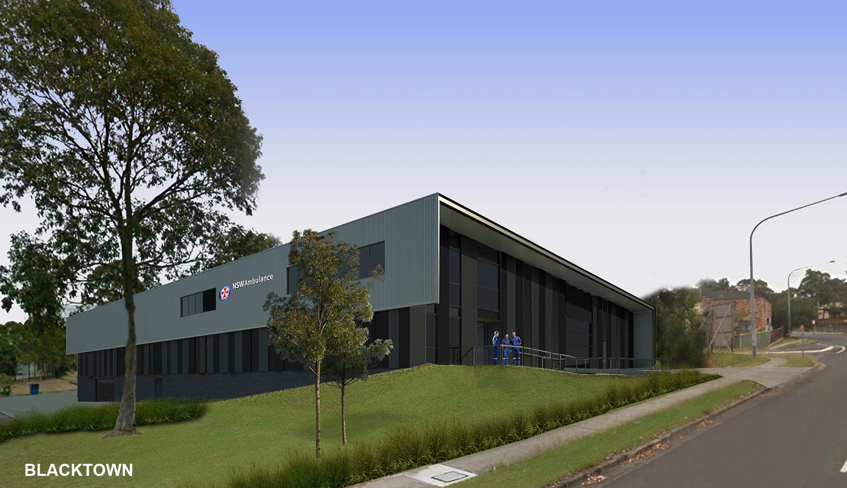 NSW ambulance supercentre drawing of the Backtown site