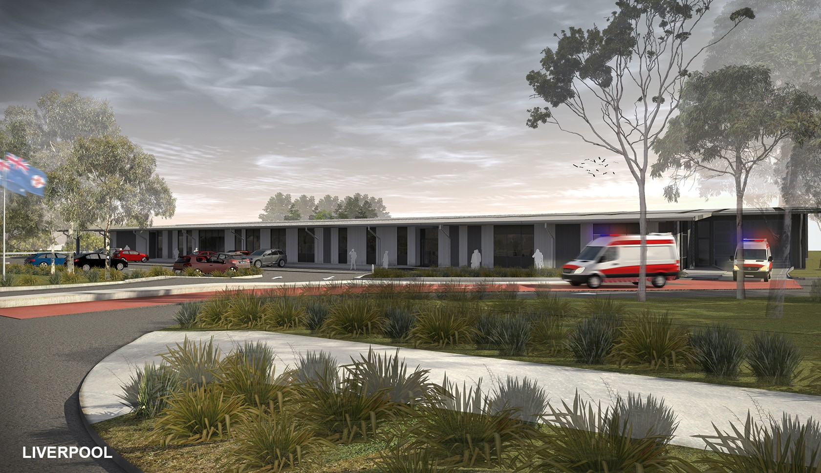 NSW ambulance supercentres western Sydney architectural drawing view from the entrance