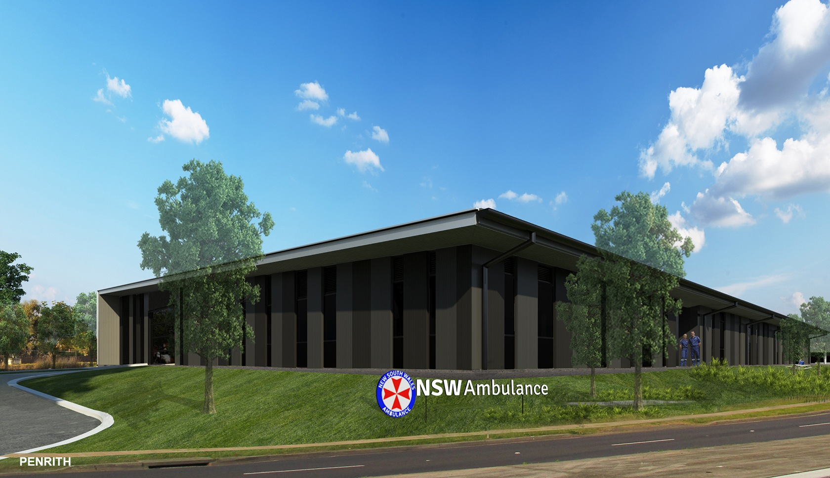 NSW ambulance supercentres western Sydney architectural drawing view from the road